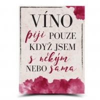 Cedulka Víno s někým nebo sama