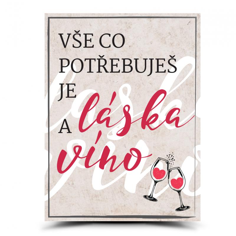 Cedulka Potřebuješ víno