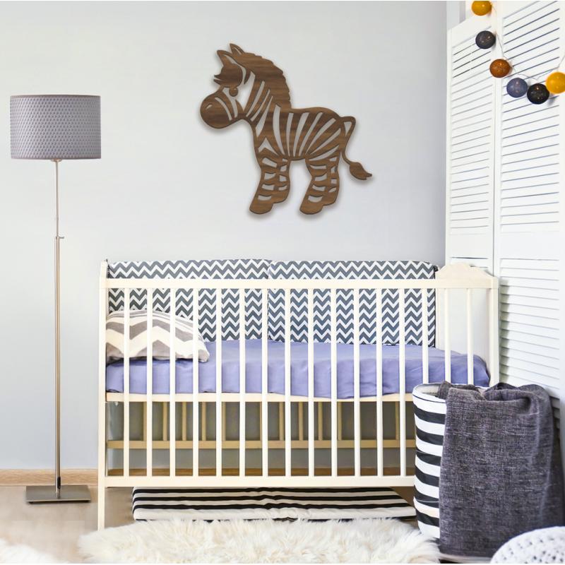 Dřevěný originální Obraz Zebra